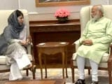 Video : Talks Tough During Stone-Pelting, Firing, Says Mehbooba Mufti, Meets PM