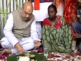 Video: Amit Shah Launches BJP's Mission Bengal With Lunch On Banana Leaf, Selfies