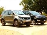 Video : Toyota Innova Crysta vs Tata Hexa, Triumph Bobber & BharatBenz 16T Bus