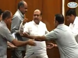 Video : BJP Lawmaker Thrown Out Of Delhi Assembly Ahead Of AAP's Expose