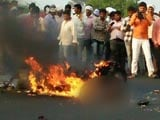 Video : In Shocking Video, Burning Man Didn't Stop Traffic On Maharashtra Highway