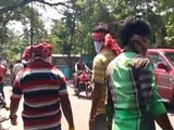 Video : Violence Hits Bengal Civic Polls, Bombs Thrown At Polling Booths, EVMs Damaged
