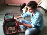 Video : Akhilesh Yadav's 'Hidden Face' On School Bags In Gujarat Baffles Many