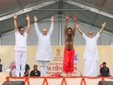 Video : Amit Shah Joins Baba Ramdev For Yoga Day Event In Ahmedabad