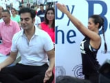 Video : Exes Malaika And Arbaaz Roll Out Yoga Mats