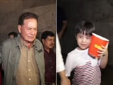 Video : Child Actor Matin Rey Tangu Watches Tubelight With Salim Khan