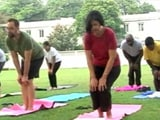 Video : Quite A Stretch: American Embassy Rolls Out Mats To Celebrate International Yoga Day