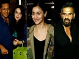 Video : Alia Bhatt, Preity Zinta and Suniel Shetty Leave For IIFA Awards