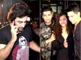 Video : Spotted! Ranbir Kapoor, Karan Johar & Sidharth Malhotra