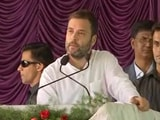 Video : 'Amma...Err...Indira Canteens': Rahul Gandhi's Flub Reveals Inspiration