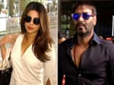 Video : Ajay Devgn & Priyanka Chopra Spotted At Mumbai Airport