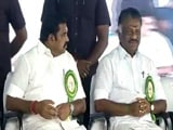 Video: Palaniswami, Panneerselvam Share Stage In AIADMK Show Of Strength