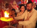 Video: Sanjay Dutt And Wife Manyata Offer Prayers To Lord Ganesha