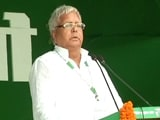 Video : Was Pressured Into Making Nitish Kumar CM, Lalu Yadav Says At Patna Rally