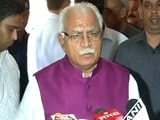 Video : ML Khattar Says 'Satisfied' With His Own Management Of Dera Violence