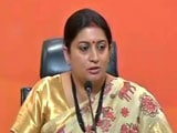 Video : 'Failed Dynast:' Smriti Irani Slams Rahul Gandhi Over Berkeley Speech