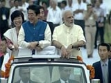 Video : PM Modi, Japan's Abe's One-Of-A-Kind Roadshow In Ahmedabad