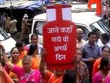 Video : महंगाई के खिलाफ मुंबई में शिवसेना का विरोध प्रदर्शन