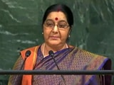 Video : We Made IITs, Pakistan Made Lashkar, Says Sushma Swaraj At UN