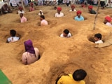 Video : Buried In Mud, Rajasthan Farmers Protest Over Land Compensation