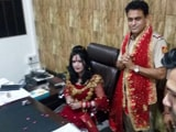 Video : 'Godwoman' Radhe Maa Spotted In Police Officer's Chair, Probe Ordered