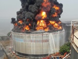 Video : 20 Hours Later Mumbai Butcher Island Fuel Tank Fire Still Burns On