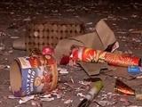 Video : आतिशबाजी के बाद कचरे से पटा मुंबई