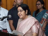 Video: In Bangladesh, Sushma Swaraj Offers Her Thoughts On The Rohingya Crisis