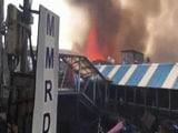 Video : Big Fire Reached Mumbai's Bandra Station, Pedestrian Bridge Was In Flames
