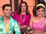 Video : Kriti & Rajkummar On The Sets Of Farah Khan's <i>Lip Sing Battle</i>