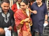 Video: Deepika Padukone Visits Tirumala Temple