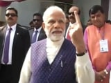 Video : PM Modi Votes In Gujarat, Walks With Inked Finger For Huge Crowd
