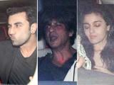 Video : SRK, Ranbir, Alia & Others At Karan Johar's Christmas Bash