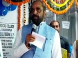 """Video : """"Join Naxals, We'll Shoot You,"""" Union Minister Hansraj Ahir Tells Doctors Absent From Event"""