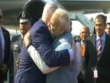 "Video : With A Hug, PM Modi Welcomes ""Friend"" Benjamin Netanyahu"