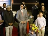 Video : Canada PM Justin Trudeau Welcomed In Dehi