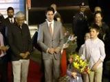 Video : Canada PM Justin Trudeau Welcomed In Dehi