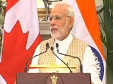 "Video : ""Terrorism A Danger For Both India, Canada"": PM Modi In Joint Briefing"