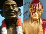 Video : In Kerala, Gandhi Statue Damaged; Ambedkar's Statue Splashed With Paint In Tamil Nadu
