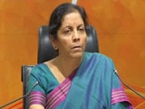 "Video : ""Rhetoric Of Loser"": Nirmala Sitharaman Counters Rahul Gandhi Speech"