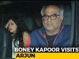 Video: Boney Kapoor Visits Arjun Kapoor's Home With Janhvi & Khushi