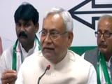 "Video : Upset With Union Ministers, Nitish Kumar Says ""Communalism Unacceptable"""