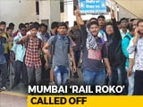 Video : 30 Mumbai Trains Cancelled As Job-Seekers Sat On Rail Tracks
