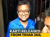 Video : Karti Chidambaram, Arrested In Corruption Case, Walks Out Of Tihar Jail