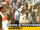 Video : High Drama At Puducherry Assembly, Marshals Bar Entry To 3 Lawmakers