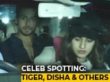 Video : Celeb Spotting: Tiger Shroff, Disha Patani, Farah Khan & Others
