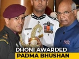 Dhoni Receives Padma Bhushan On Same Day That India Lifted The World Cup in 2011