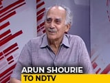 "Video : Arun Shourie On Why ""Fake News"" Order Is About Suppressing Press In India"
