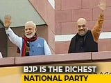 Video: BJP Richest National Party, With Rs. 1,034 Crore Declared Income: Report
