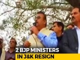 Video: 2 BJP Ministers, Who Backed Men Accused In Kathua Rape Case, Resign